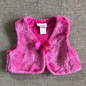 Little Lass Pink Fur Vest (24m)